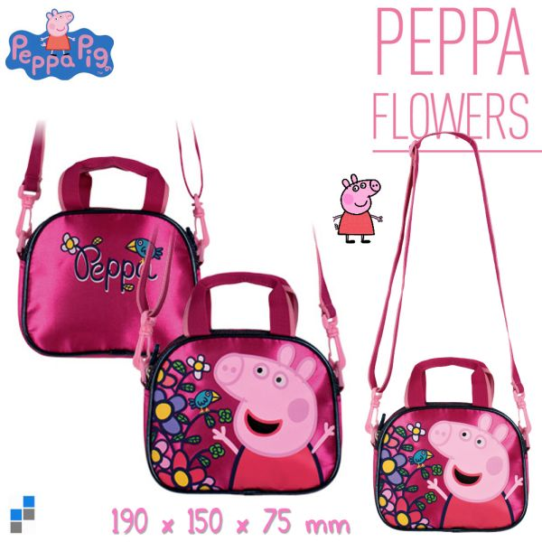 Shoulder bag 19cm<br>Peppa Pig Flowers