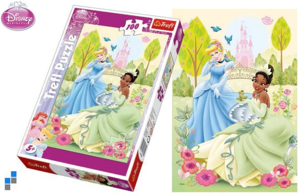 Puzzle 100 pcs<br> 41x28cm Princess<br>in packaging