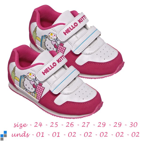 Sports shoes size<br> 24-30 sorted<br> Hello Kitty