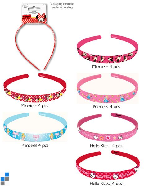 Hairband 6<br>assorted Disney