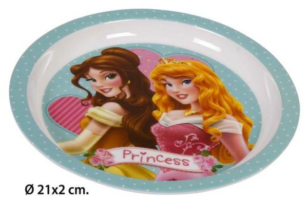 Melamin Teller<br> Ø21x2cm Disney<br>Princess