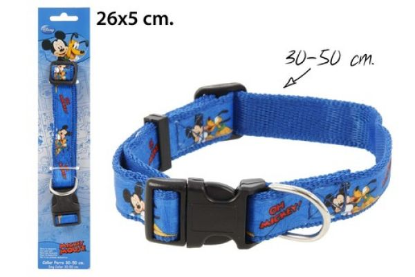 Dog Collar 30-50cm<br>in blister Mickey