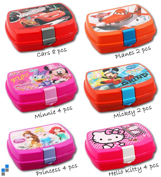 Lunch box 6<br>assorted Disney
