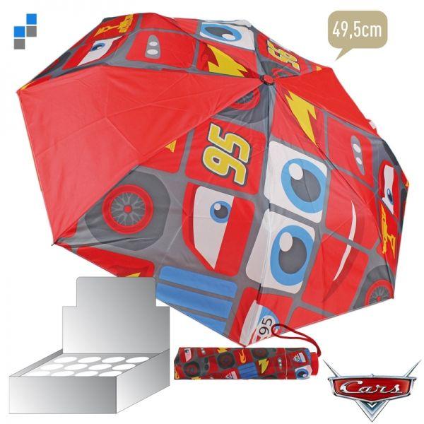 Regenschirm<br> faltbar im Display<br>49,5cm Cars
