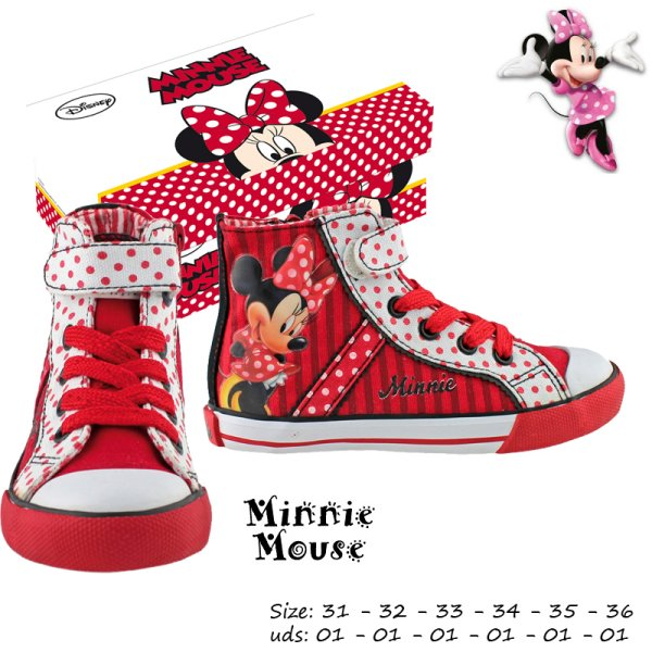 Toile Chaussures de basket-Gr. 31-36 triés Minnie