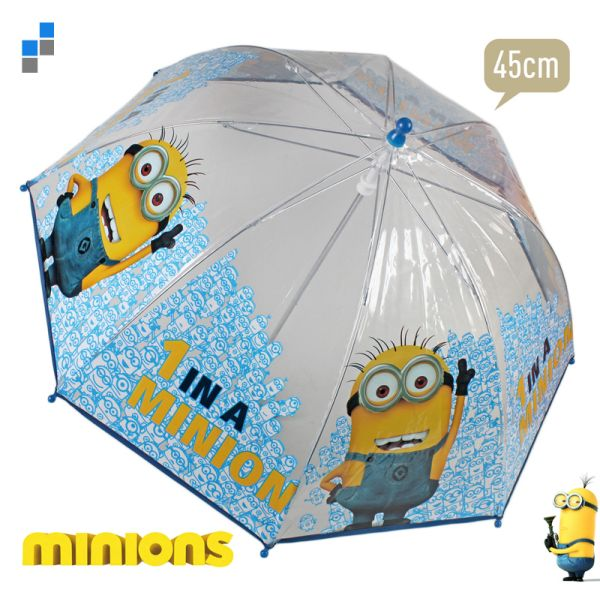 Umbrella<br> transparent 45cm<br>Minion