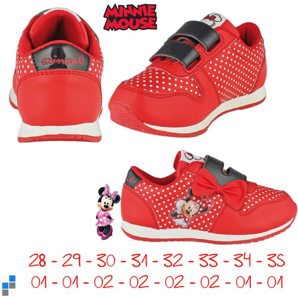 Sports shoes size<br> 28-35 sorted<br>Disney Minnie