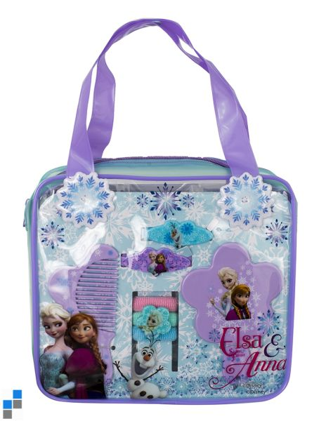 Haar Accessoires Set mit PVC Tasche Disney Frozen