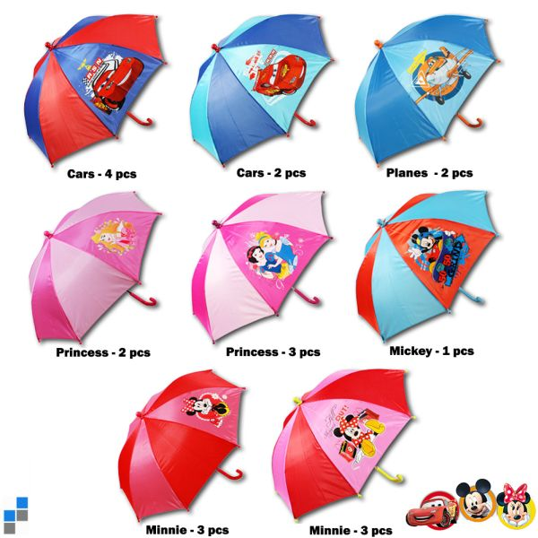Children Umbrella<br> r37cm 8 assorted<br>Disney