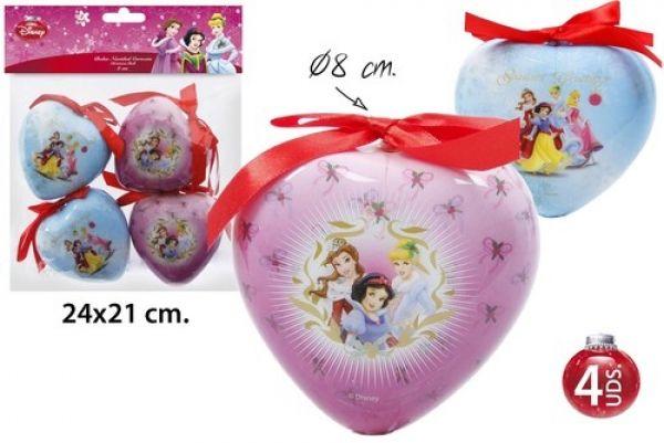 Décorations de Noël Arbre Ø8cm 4 pièces Princess