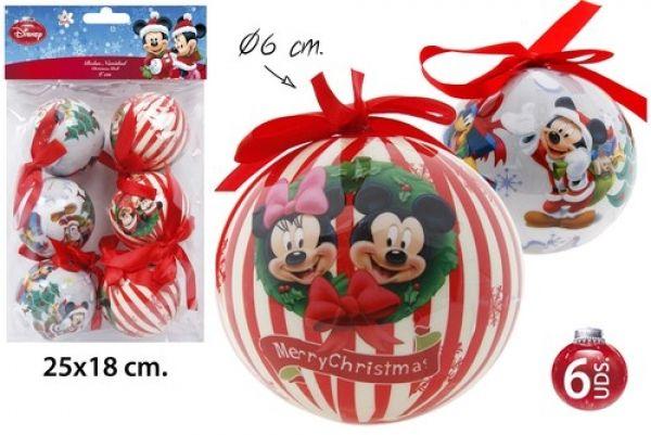 Décorations de Noël Arbre Ø6cm 6 pièces Mickey / M