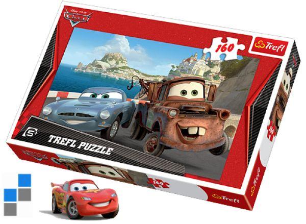 Puzzel 160 stuks<br> 41x28cm Cars in<br>verpakking