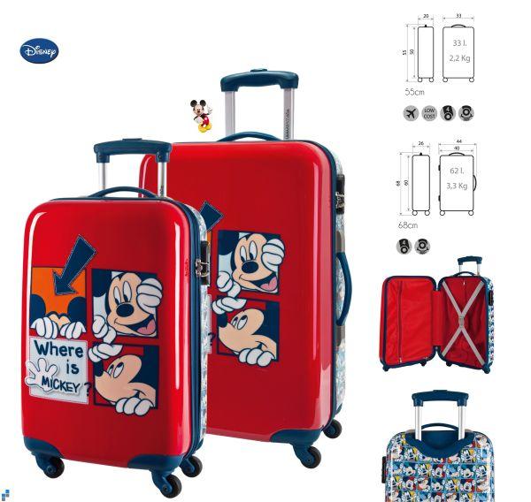 Reisekoffer<br> Trolley Set<br> 2-teilig Mickey ...