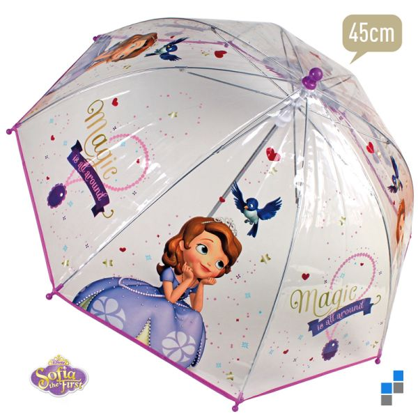 Umbrella<br> transparent Disney<br>Sofia 45cm