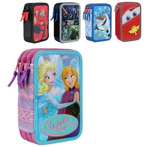 Triple pencil case<br> with pens 42<br>pieces frozen
