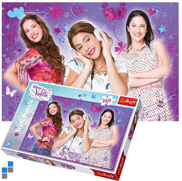 Puzzle 260 pcs 60x40cm Violetta dans l'emballa