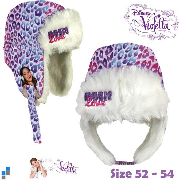 Orosz téli sapka<br> mérete 52-54 cm<br>Violetta