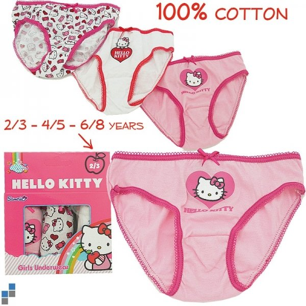 Hello Kitty<br> fehérnemű 3 Pack<br>Size 2-8 év