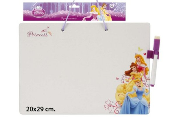 Abwischbare Tafel<br> mit Stift 20x29cm<br>Disney Princes