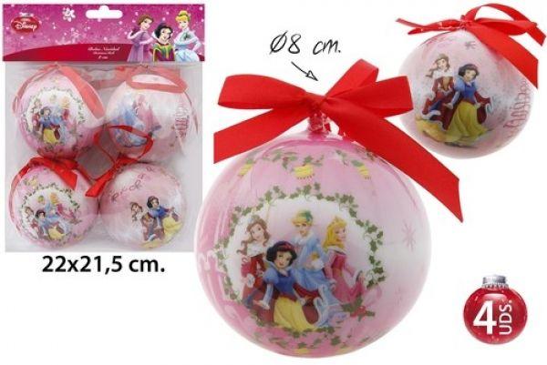 Weihnachtsbaumschmuck Ø8cm 4-teilig Princess