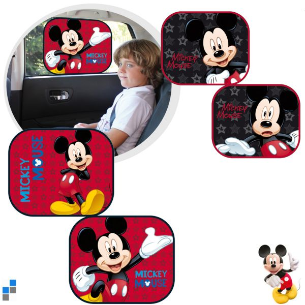 Car sunshade<br> 2-piece 4 assorted<br>Mickey