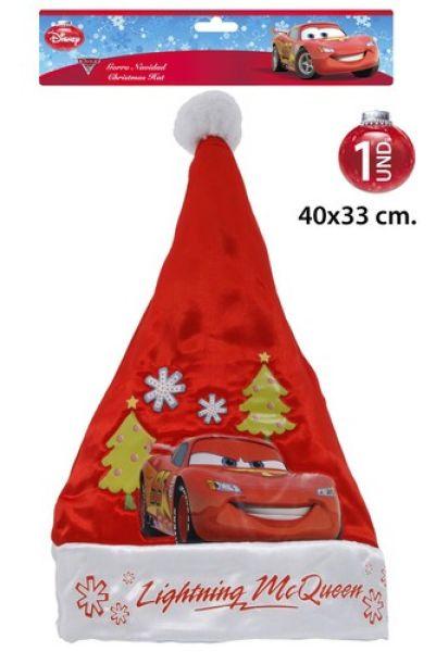 Chapeau de Père Noël 40x33cm Disney Cars