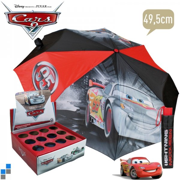 Regenschirm faltbar mit Display Disney Cars 49cm
