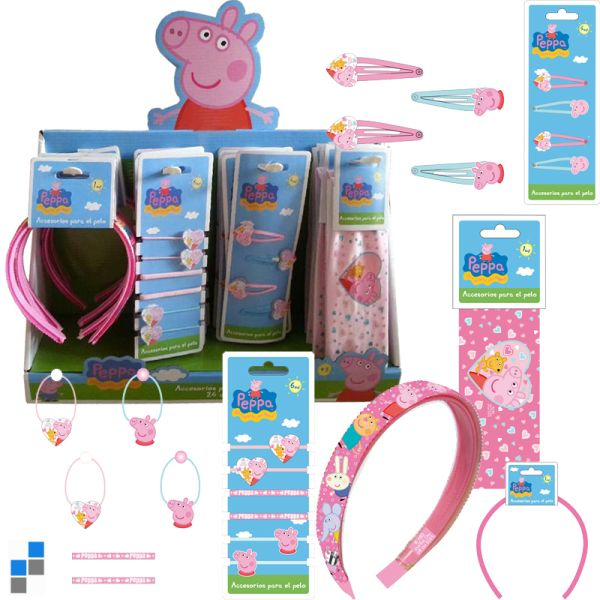 Hair Accessories<br> Peppa Pig in the<br>display