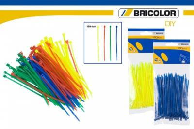 Cable Ties color<br> in blister 100mm<br>100 pieces