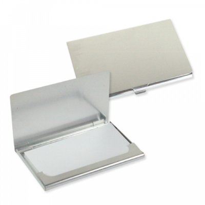 Matt brushed<br> aluminum business<br>card case
