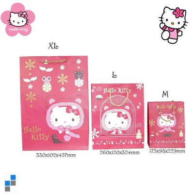 Hello Kitty<br> Christmas gift bag<br>18x23cm M