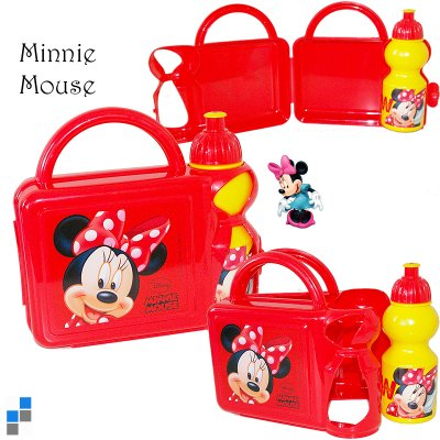 Lunch box with<br> water bottle<br>20x20cm Minnie