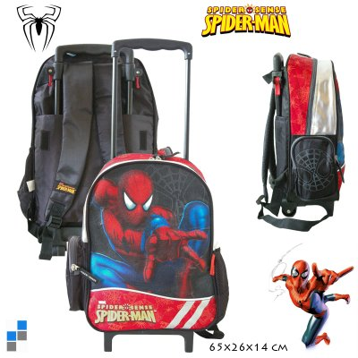 Kinder Rucksack Trolley Spiderman 36cm