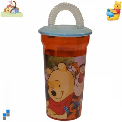 Drinking cup with<br>straw Pooh 14cm