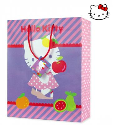 Gift bag 18x23cm M Hello Kitty Fruity