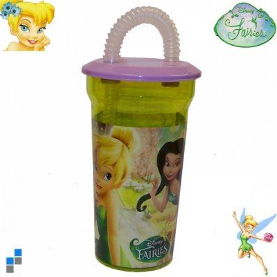 Drinking cup with<br>straw Fairies 14cm