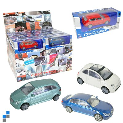 Metalen speelgoed<br> auto 1:43 2<br>assorti-display