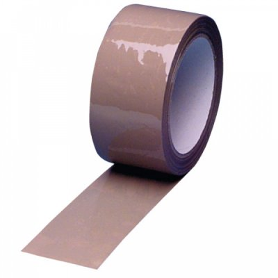 Parcel tape 50mm x<br>66m Brown Quiet
