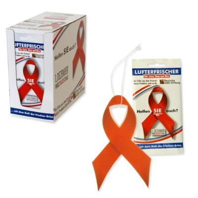 Lufterfrischer<br> Schleife Deutsche<br>AIDS-Stiftung