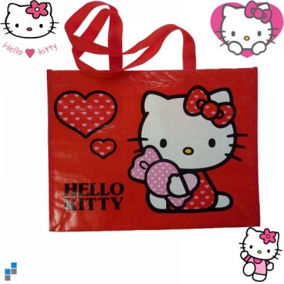 Shopping Bag Hello<br>Kitty red 42x35x17cm