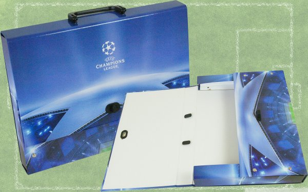 Briefcase<br> cardboard UEFA<br>Champions League