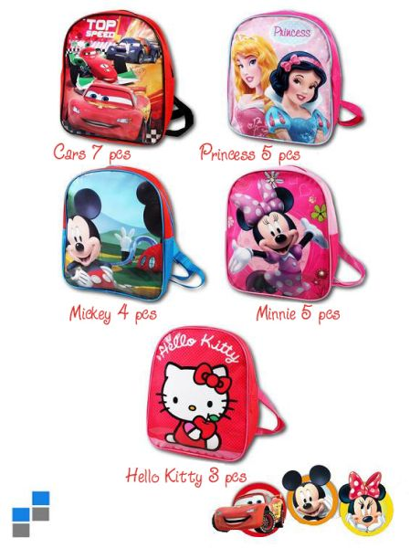 Children backpack<br> sorted 5x 28cm<br> Disney