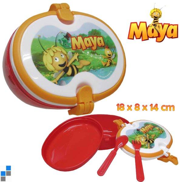 Lunchbox mit<br> Besteck 18cm Biene<br>Maya