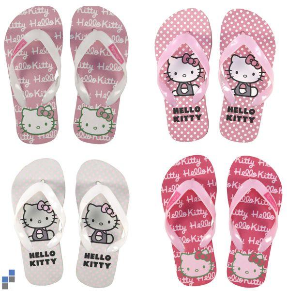 Flip Flops 4-fach<br> sortiert Größe<br>27-34 Hello Kitty