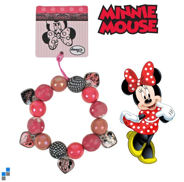 Pearl necklace<br> with hearts Disney<br>Minnie