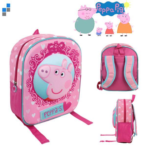 3D Backpack 31cm<br>Peppa Pig