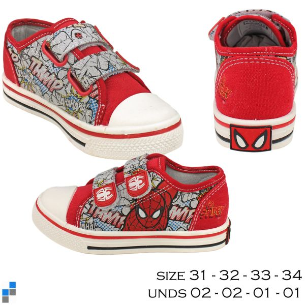 Canvas Schuhe Größe 31-34 sortiert Spiderman