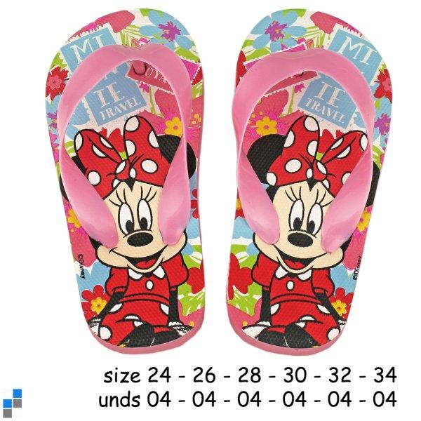 Basic flip flops<br> size 24-34 sorted<br>Minnie