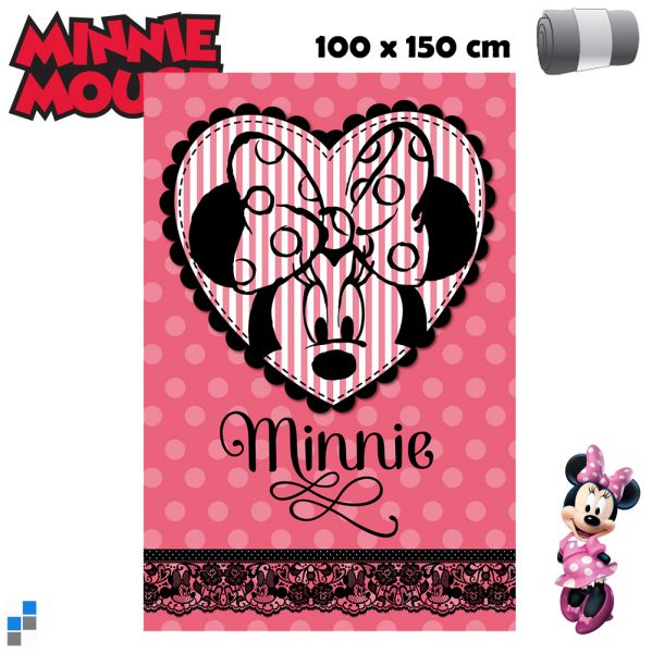 Polar Fleecedecke<br> 150x100cm Disney<br>Minnie