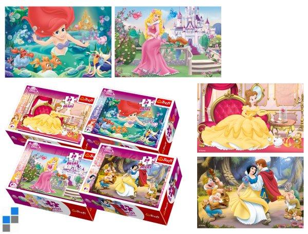 Mini Puzzle<br> 54-teilig Princess<br>im Display
